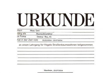 Baumaschienenführer